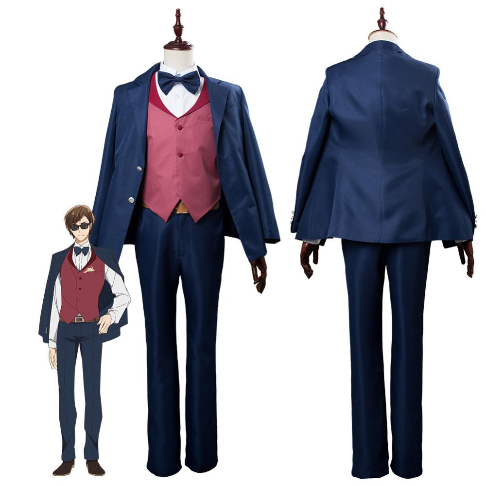 fc00aa5846d44 Zombie Land Saga Kotaro Tatsumi Zombieland Saga Cosplay Costume Dress  Outfit Suit Women Men Halloween Carnival Costume Custom