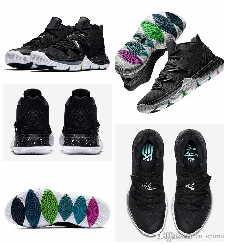 f9d516993115 2019 New Kyrie 5 Mens Basketball Shoes Black Magic Top Quality Kyrie Irving  5s Trainers Sports Men Designer Sneakers Chaussures Zapatillas Youth  Basketball ...