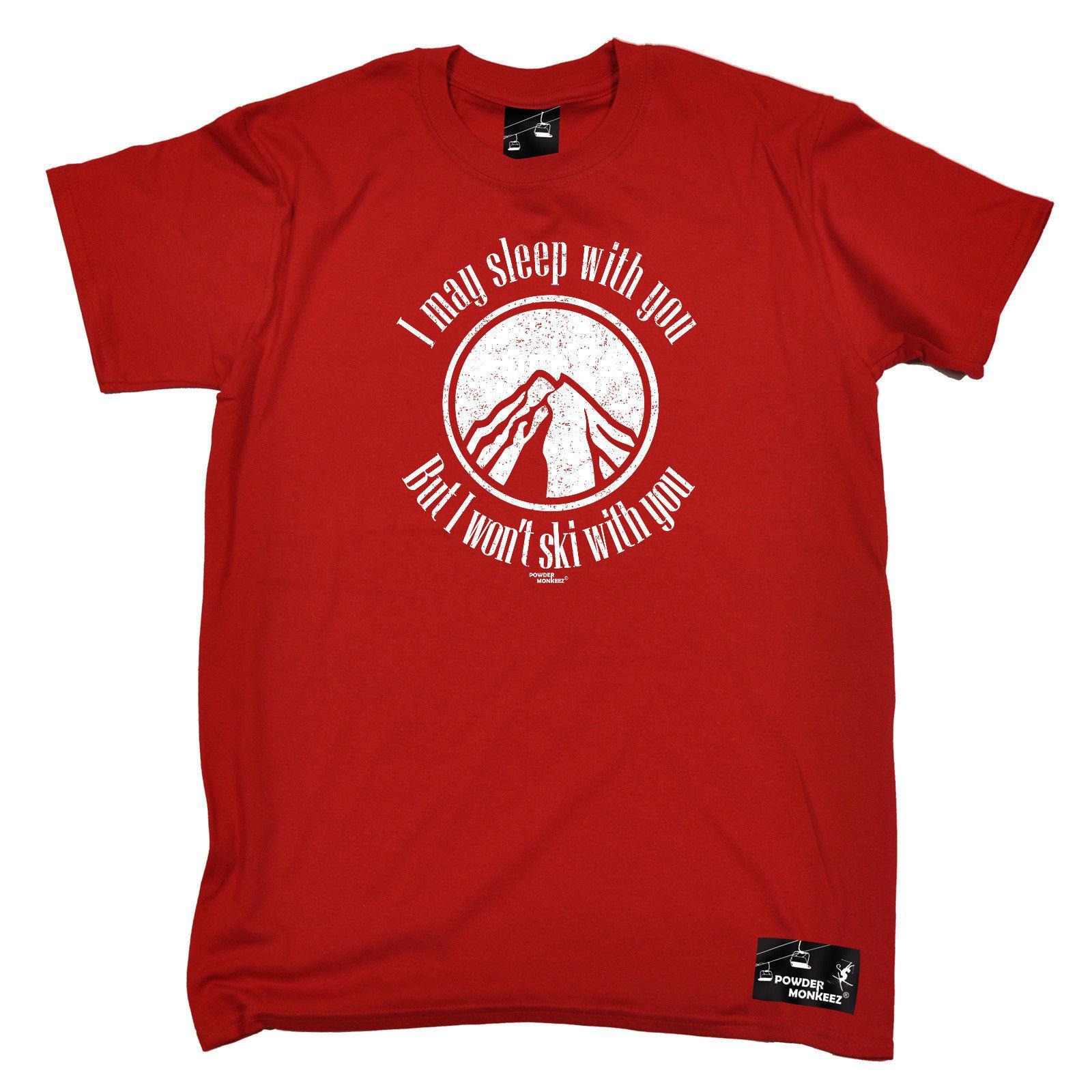 38e6d12ef6 Skiing T Shirt Funny Novelty Mens Tee TShirt Ski I May Sleep With Men Women  Unisex Fashion Tshirt Shirts Design Online T Shirts From Besttshirts201804,  ...