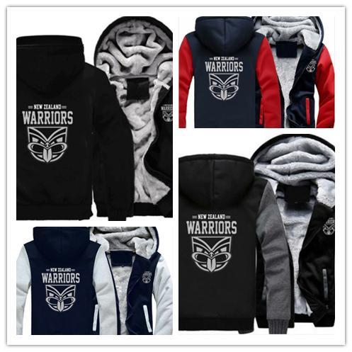 e10a5a95bfab1d 2019 2019 Winter Hoody New Zealand Warrior Football Men Women Warm Hoodies  Autumn Clothes Sweatshirts Zipper Jacket Fleece Hoodie Streetwear From  Wk1403