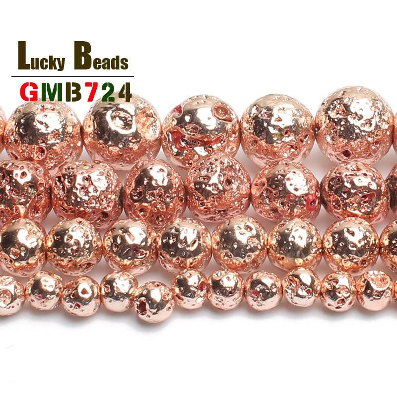 2019 Cheap Beads Natural Stone Rose Gold Lava Hematite Round Loose Beads 4  6 8mm 10mm DIY Necklace Bracelet Jewelry Making Accessories From  Ten dollar store ... 74eece7d62cd
