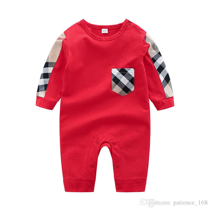63c9a255ec2c Newborn Baby Rompers 2019 Spring New Style INS Long Sleeve O-neck ...