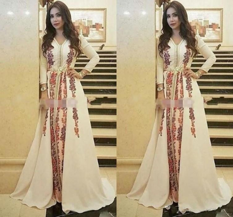 7f3d0b7f2d New Kaftan Evening Dresses Moroccan Caftan Amazing Embroidery V Neck  Occasion Formal Prom Gown Dubai Abaya Arabic Long Sleeve Party Dress  Evening Dresses ...
