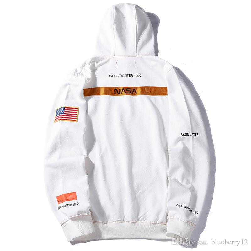 Heron Preston X NASA Hoodie Letter Embroidered Mens Long Sleeve Sweatshirt 5 Colors Fashion Street Hoody Couple Clothes