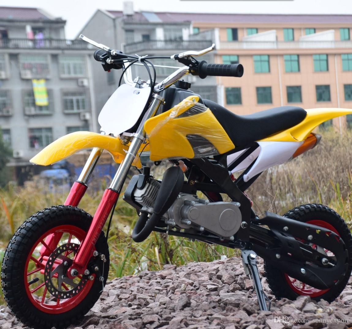 2 Stroke 49cc Mini Dirt Bike for Kids Electric Starter Children Petrol  Motorcycle Bike Gas Motorbike Pocket Bike