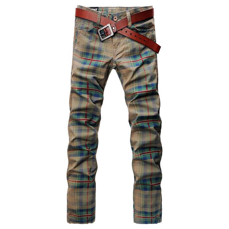 d4f1809d33 Compre SHAN BAO Marcas De Pantalones Vaqueros A Cuadros De Lujo Para Hombre  De Alta Calidad 2016 Nuevo Otoño Pantalones Rectos Caqui 3101 A  45.81 Del  ...