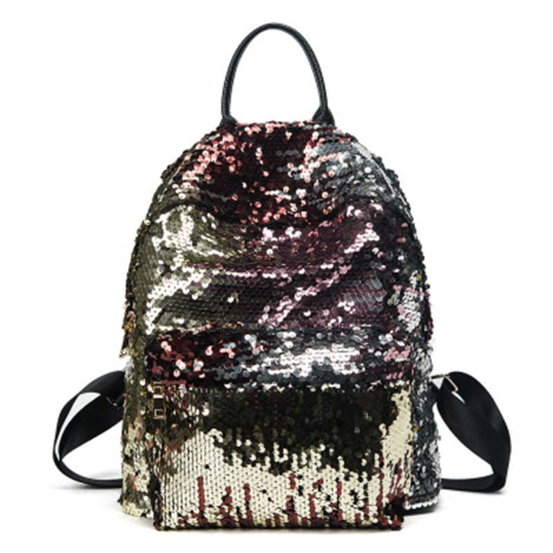 40f52e28fc Fashion Sequins College Style School Bag Cool Classical Joker Multi  Function Travel Bag Preppy Style Classic Backpacks Black Rucksack Backpack  Boys ...