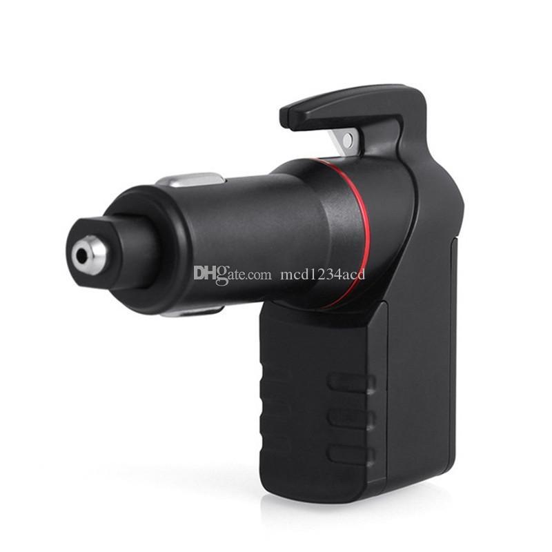 3 в 1 Аварийный выход инструмента автомобильного прикуривателя Автомобильное зарядное устройство с окном Breaker Ремень Резак USB зарядное 2.4A для Samsung планшетных ПК
