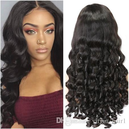 Straight Lace Frontal Wig Malaysian Human Hair Lace Wigs With Baby Hair For Black Woman Natural Color 130% Density Pre Plucked Punctual Timing Hair Extensions & Wigs Human Hair Lace Wigs