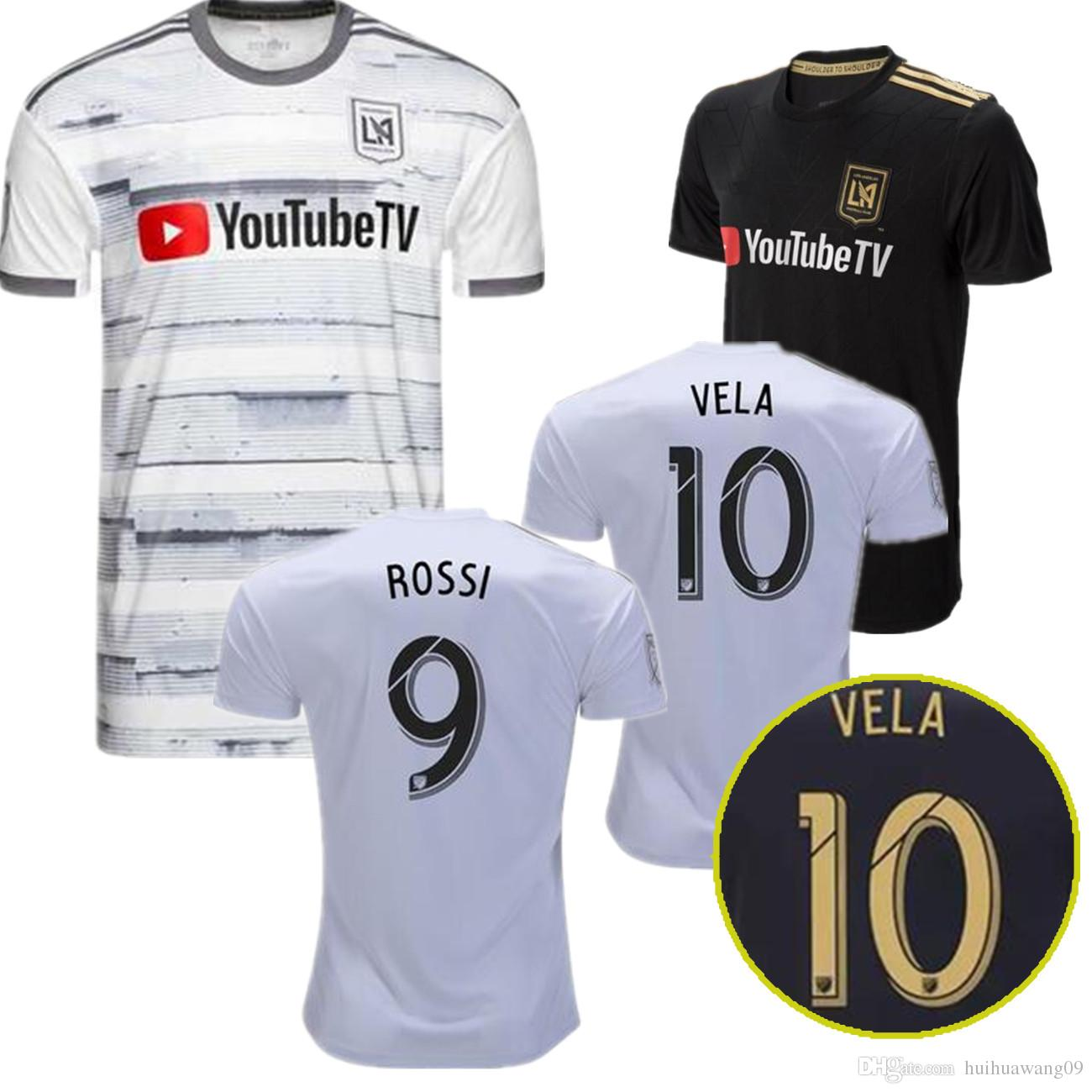 premium selection c2bc9 6bf3b 2018-2019 LOS ANGELES FC 2019 Jersey LAFC MLS Football Club ZELAYA #22 VELA  #10 BLESSING #7 ROSSI #9 Home away Footbal shirts Jersey