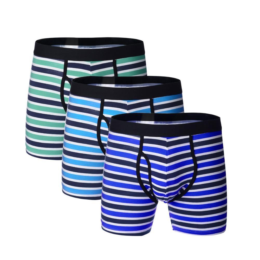 17cb2e7533 Großhandel 3 Teile / Los Lange Boxer Winter Mens Underwear Baumwolle Mann  Boxer Atmungsaktive Gestreifte Shorts Boxershort Männliche Unterhose Von  Yuhuicuo, ...