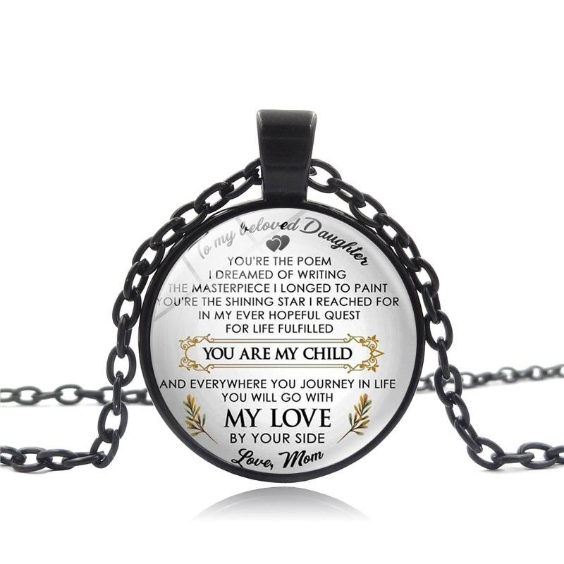 You Are My Child My Love Necklace Letter Mother Father Love Glass Cabochon  Necklace Fashion Jewelry Will and Sandy drop Ship