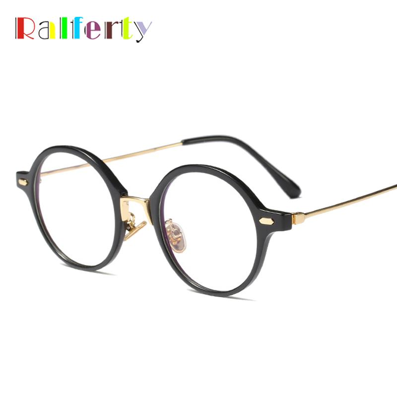 c868991ba44f 2019 Ralferty Retro Round Glasses Frame Unisex Trendy Eyeglasses  Prescription Optical Frames Clear Lens No Degree Eyewear F1718053 From  Vintage66