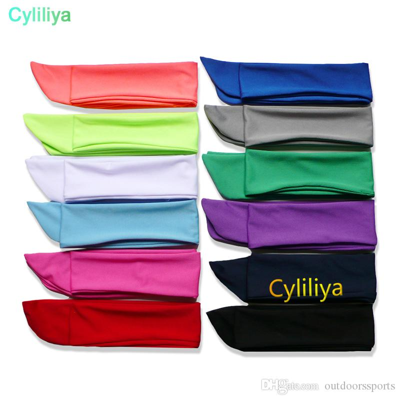 Solid Tie Back Headbands Stretch Sweatbands Hair Band Moisture Wicking Men Women Bands scarves for Sports Running Jogging