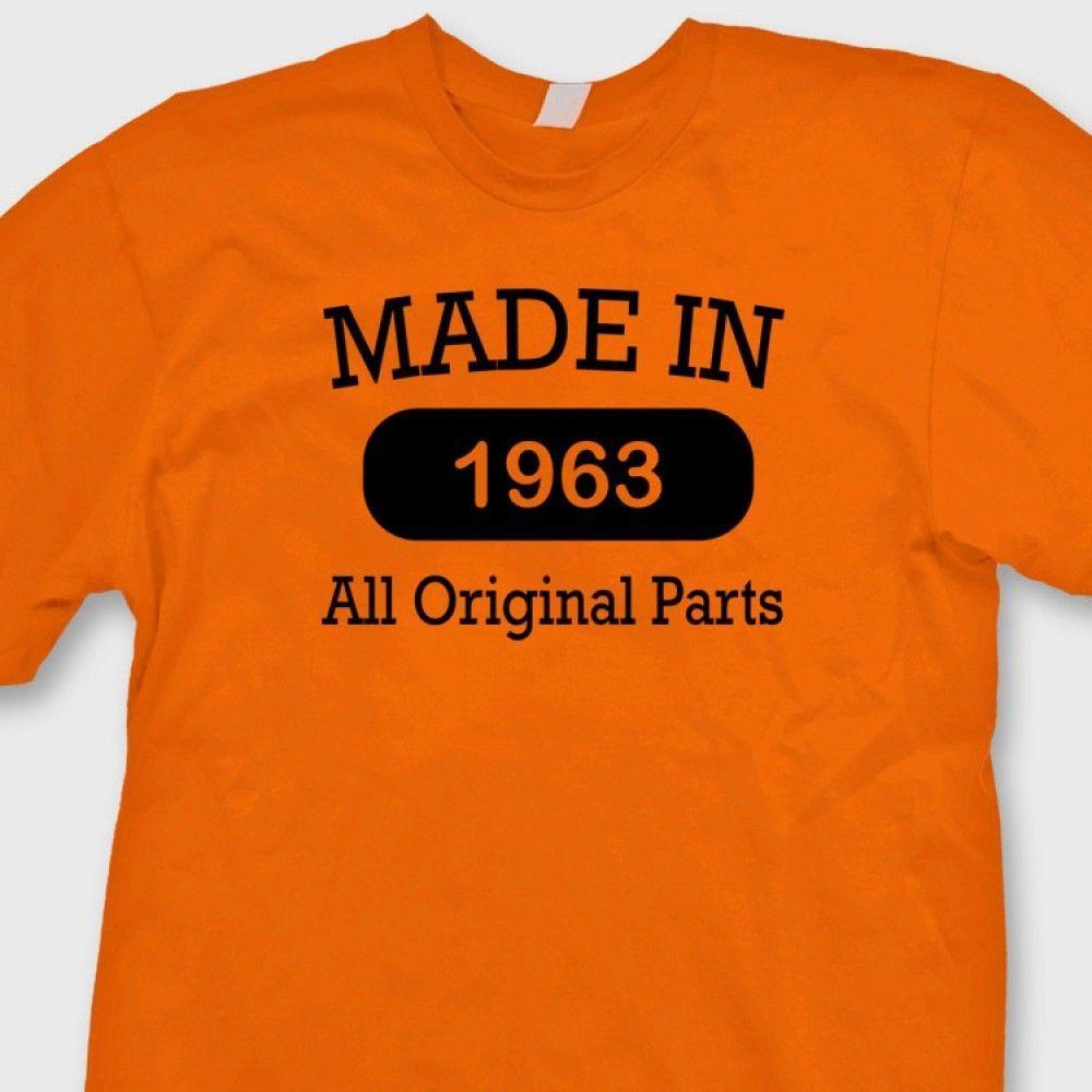 MADE IN 1963 Funny Vintage Birthday T Shirt Gag Gift Tee Men Women Unisex Fashion Tshirt Cool Shirts Designs Pt From Designtshirts201808