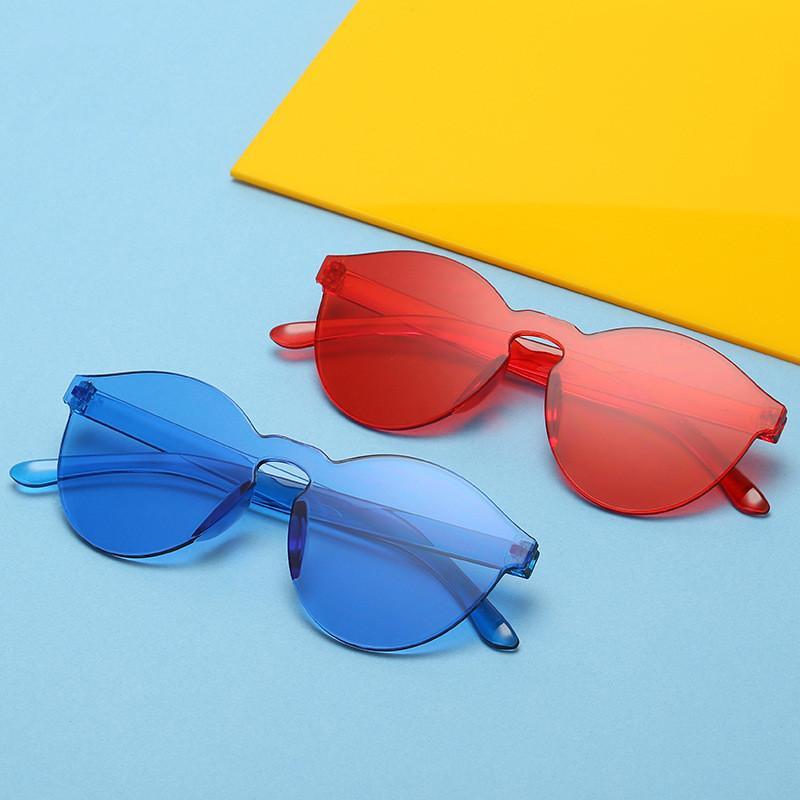 fbb8847b01 Gafas De Sol De Color Caramelo Americano Europeo Mujeres Sin Marco Jalea  Transparente Uv400 Retro Gafas De Sol Moda Verano Gafas AAA1849 Por  Best_sports, ...