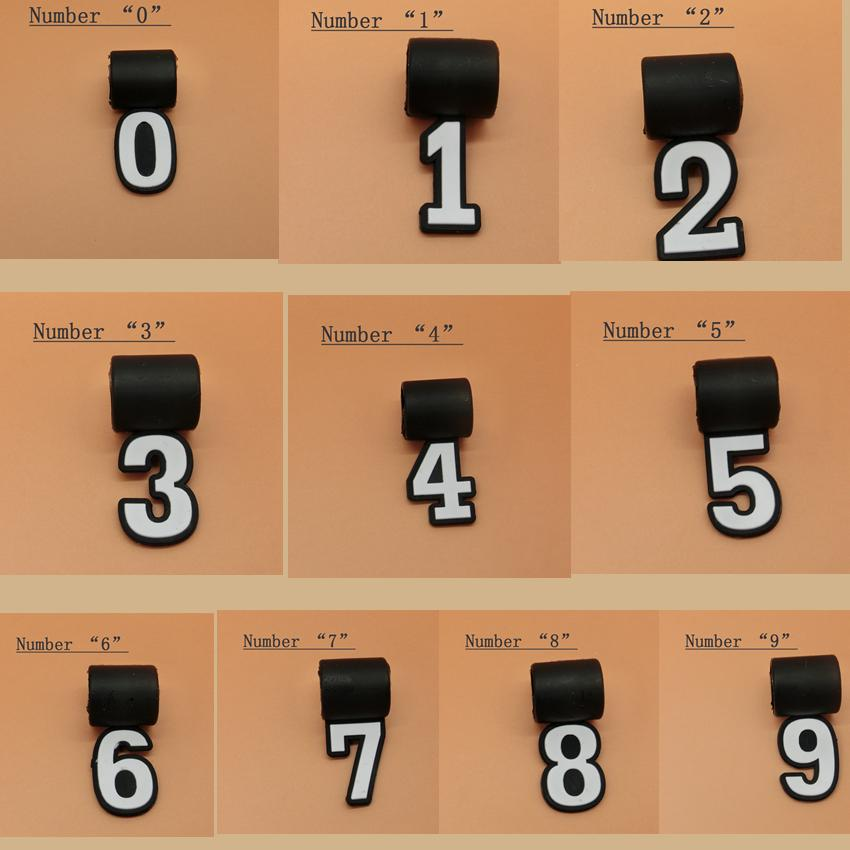 Fashion Silicone Digital Number Pendant 0-9 For baseball/softball Necklace  Quantum Numbers Lucky Number Player digit 200PCS LJJZ163