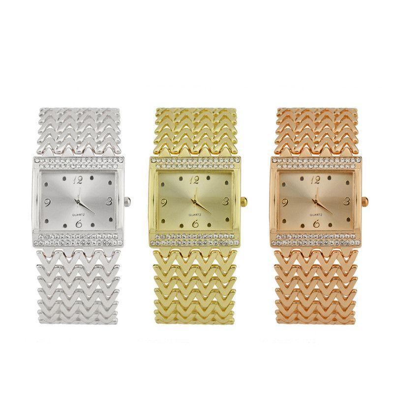 739cfc93f Compre 2019 Reloj De Pulsera Con Reloj De Cuarzo Analógico Con Pulsera De  Diamantes Completo Para Mujeres Zegarek Damski Orologio Donna Moderna  Relojes ...