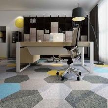Promotional 100% PP 50x50cm Office Floor Carpet Tile Bitumen Backing