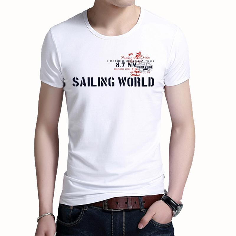 5df7abec5c6 BROWON Brand Summer Top Men T Shirt Casual Short Sleeve Cotton O ...