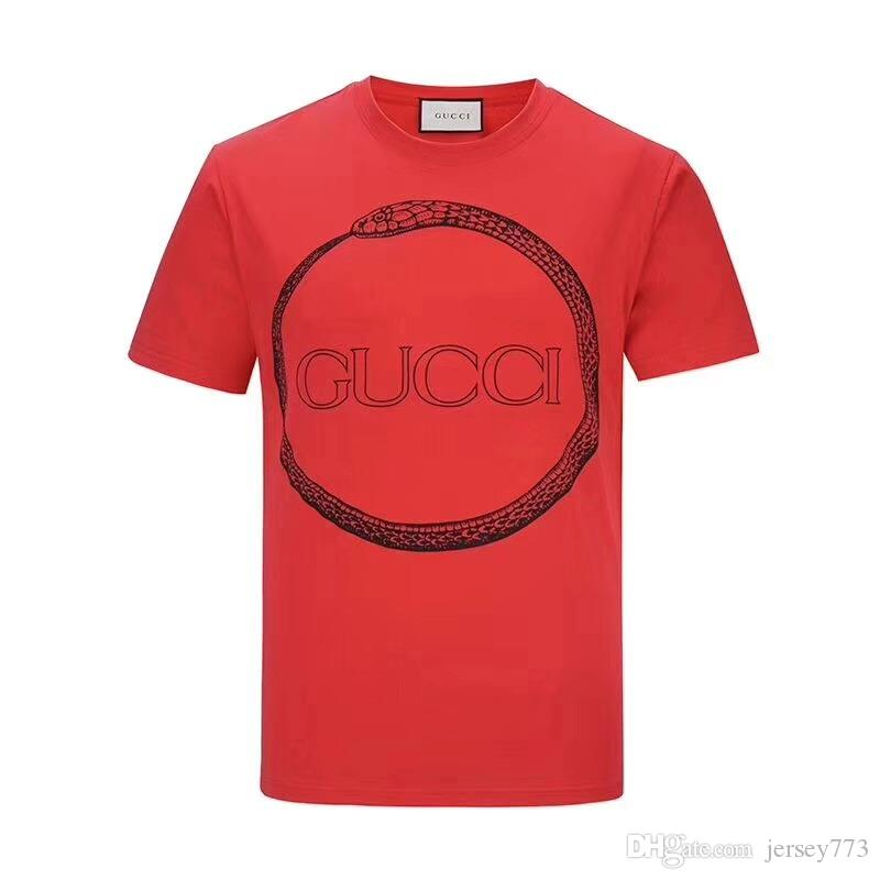 7c572064c93 2019 Snake T Shirt YY G Italian Designer Polo Shirt Fashion Luxury Brand  Medusa Print Snake T Shirt Men S Casual Cotton T Shirt From Jersey773