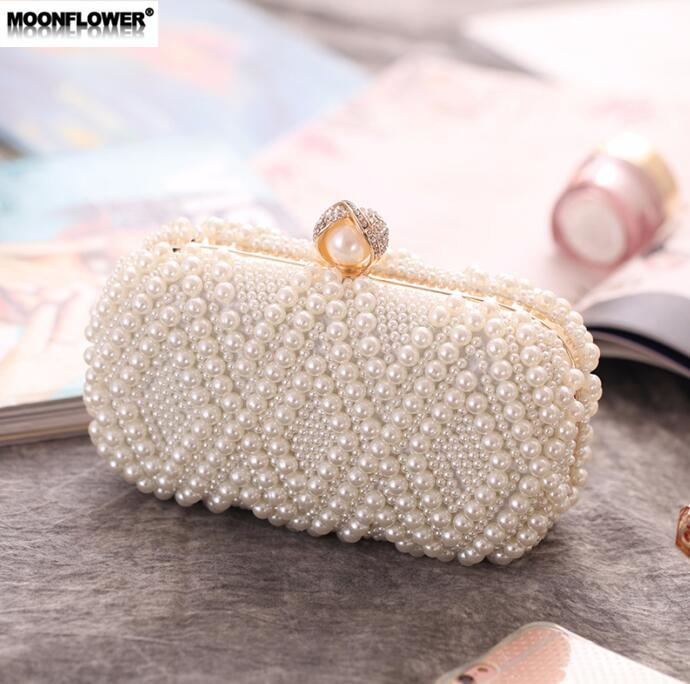 Wholesale Brand Women Handbag Exquisite Handmade Beaded Dinner Bag Fashion  Beaded Embroidery Craft Pearl Chain Bag Banquet Bridesmaid Bride Fashion  Handbag ... c12c91b52238