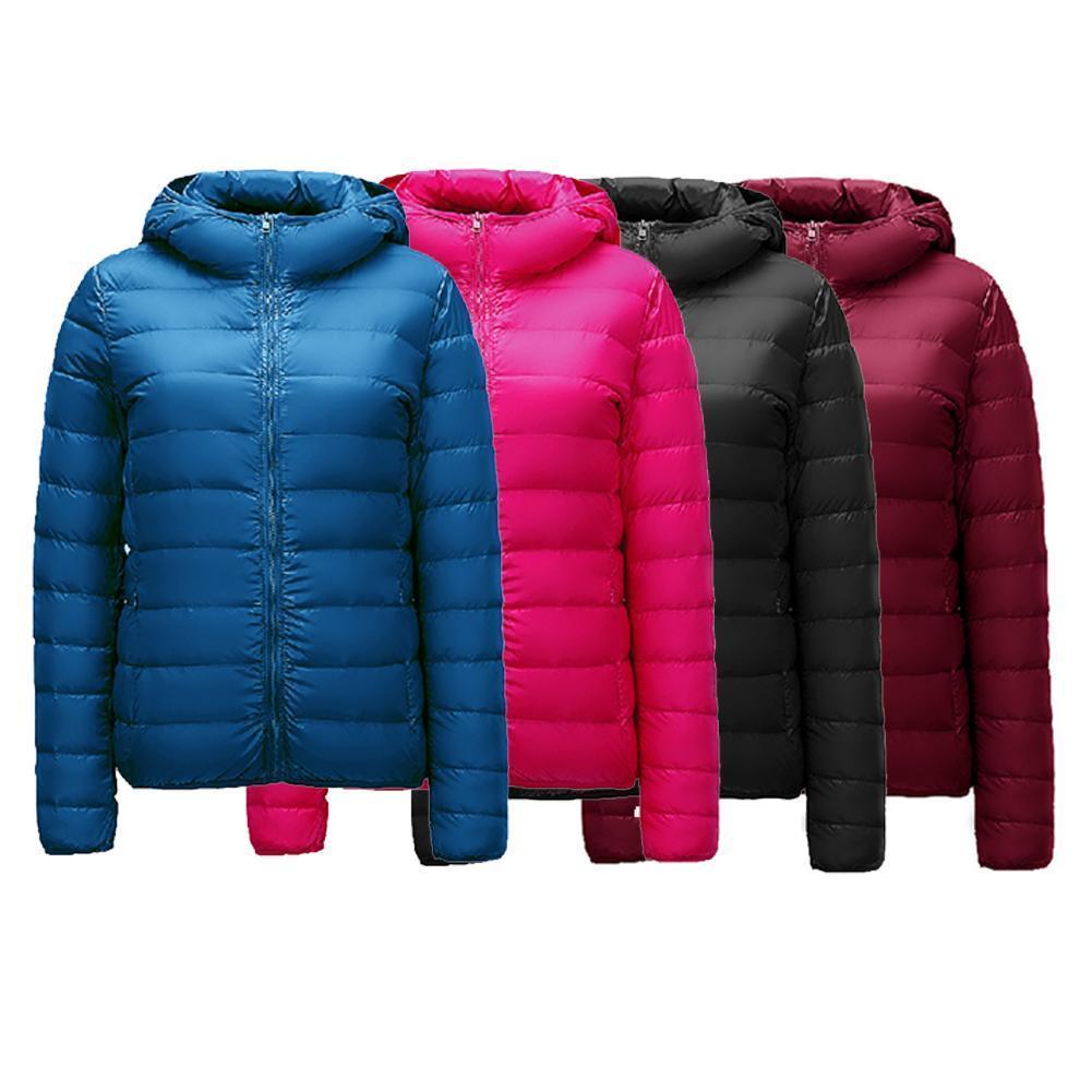 213bf998541 Winter Plus Size 3XL Womens Down Jackets Short Ultra Light Duck Down ...