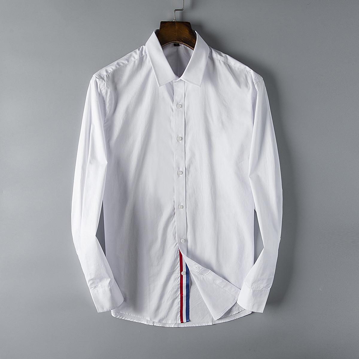 Designer Mens Shirts France Luxury Business Shirt Long Sleeve Brand