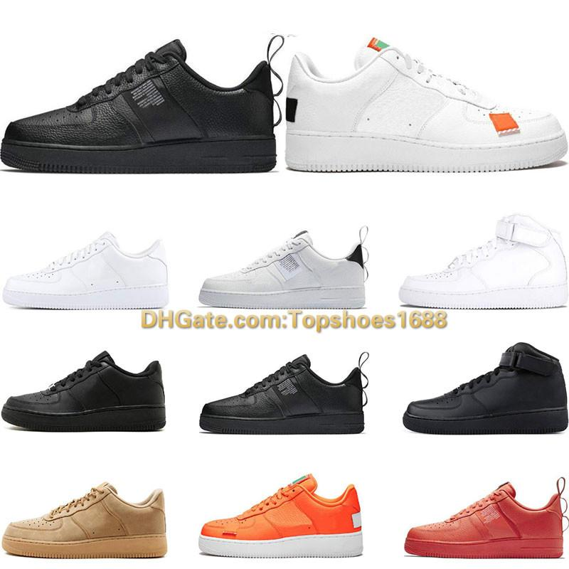 Men 1 Utility Classic Black White Dunk Women Casual Shoes red one Skateboarding High Low Cut Wheat trainers Sports Sneakers size 36 45