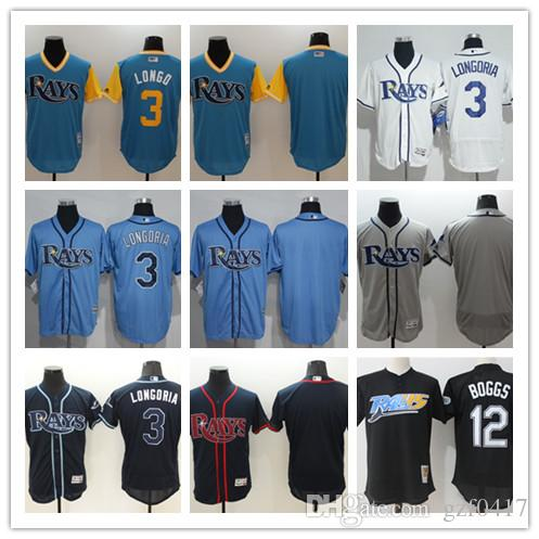 cc26357033b 2019 Custom Men S Women Youth Tampa Bay Rays Jersey  00 Your Name And Your  Number 3 Evan Longoria 12 Wade Boggs Blue White Baseball Jerseys From  Gzf0417