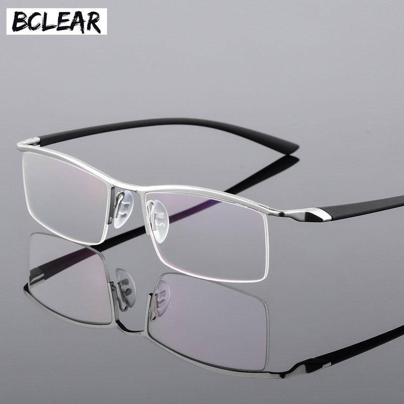 Compre BCLEAR Metade Aro De Liga Miopia Óculos Óculos Homens Prescrição  Óculos RX Quadros Ópticos Flexível TR 90 Templo Masculino 6 Cores De  Taihangshan, ... 793c7a6213