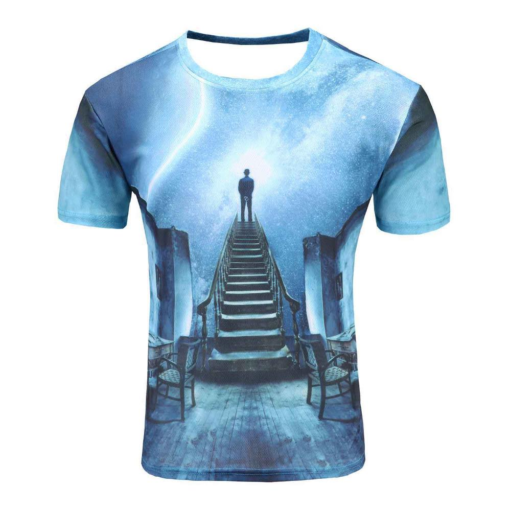 937f43af28bb Space Galaxy T Shirt For Men Women 3d T Shirt Funny Print Cat Horse Shark  Cartoon Fashion Summer T Shirt Tops Tees Wholesale Best T Shirts Shirts  Online ...