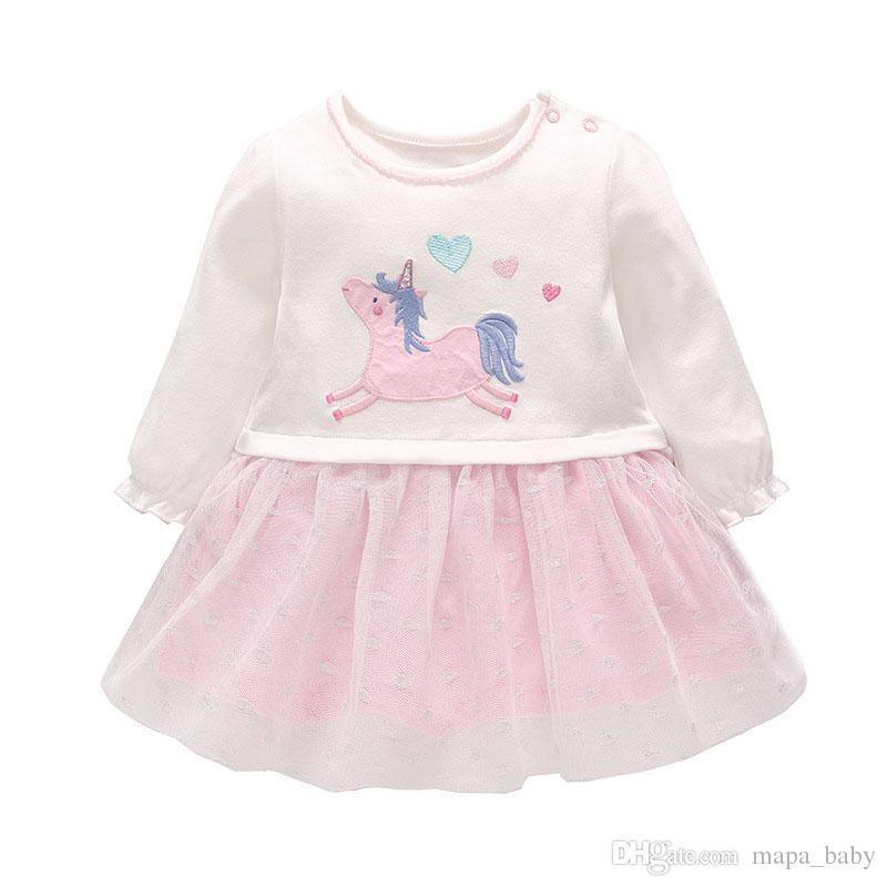 6313f8bdf 2019 Kids Girls Unicorn Dresses Tutu Rainbow Skirt Dresses Outfits Fashion  Kids Clothes Kid Girl Princess Party Dress Clothing From Mapa_baby, ...