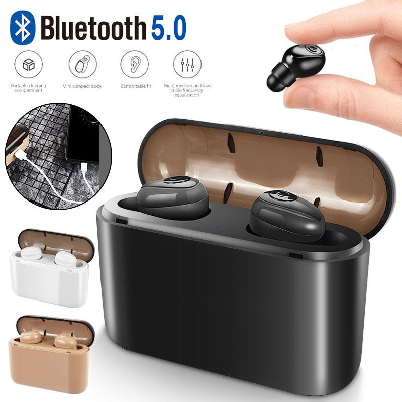 2f3d388f48d X8 Bluetooth 5.0 Earphones TWS Wireless Bluetooth Handsfree Headset Sports  Stereo Earbuds Built In Mic With 2200mAh Charging Box Wireless Bluetooth  Earbuds ...