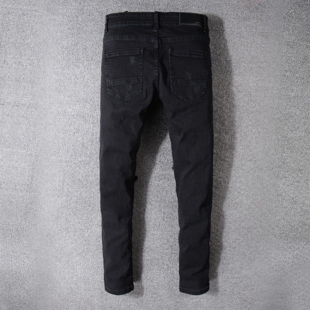 7f46a2f3faa 2019 Summer Hole Jeans Man Easy Korean Edition Slim Small Feet Pants Black  Haren Trend Beggar Trousers From Otaku44