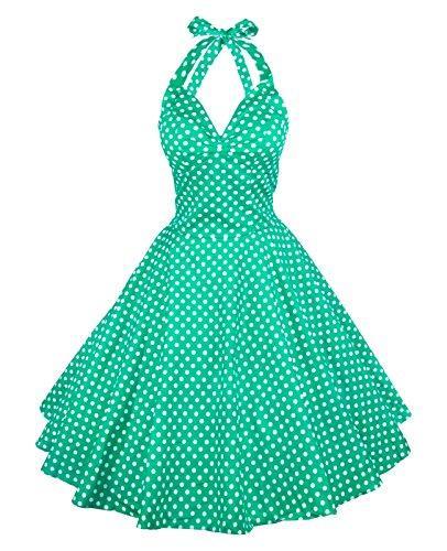 ce11165c4d67 Maggie Tang Vintage Women'S 1950s Dots Rockabilly Full Circle Dress ...