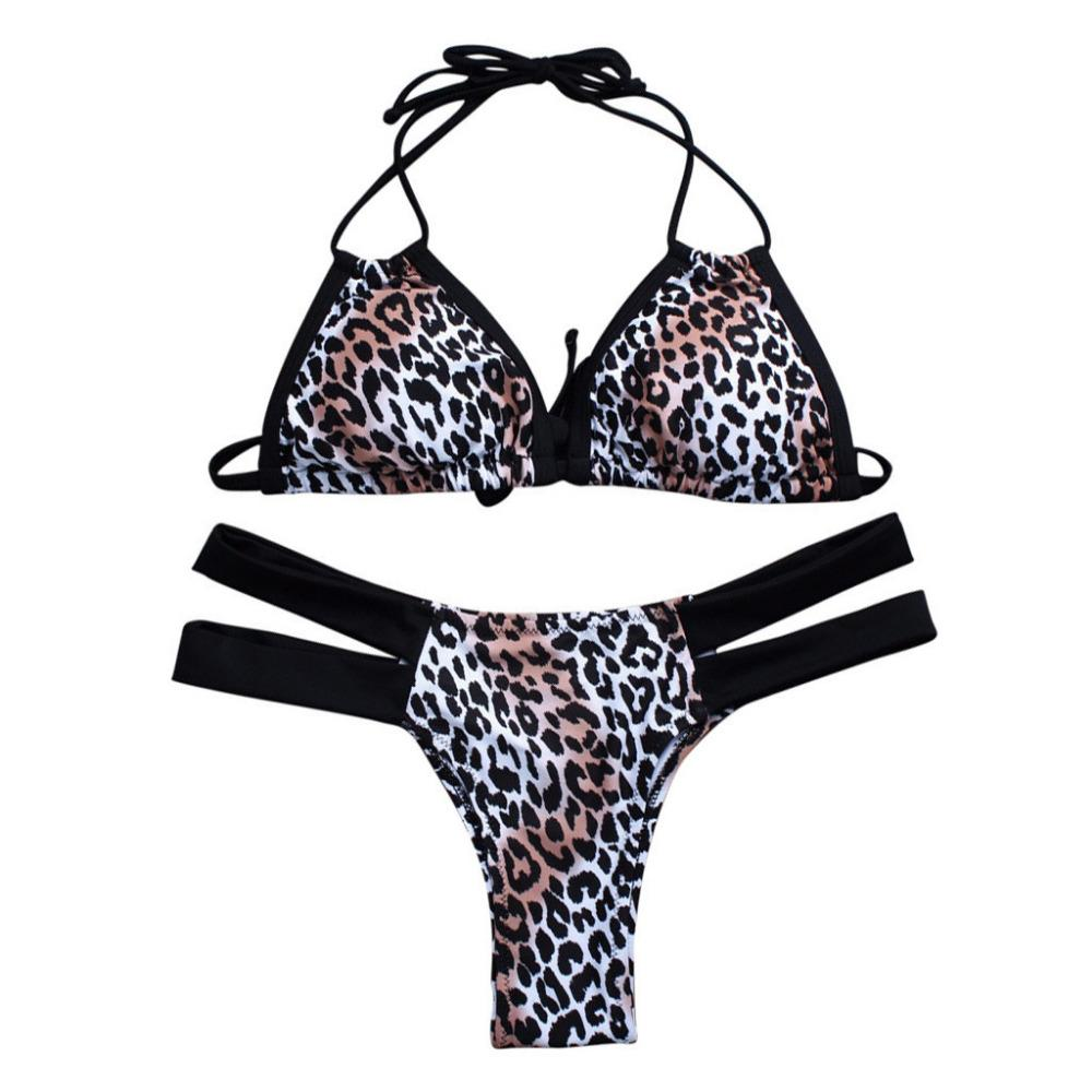 6b2c6585744b0 2019 Women Leopard Print Bandage White Set Brazilian Swimwear Beachwear  Swimsuit Bodysuits Clothing From Junxcj, $46.86 | DHgate.Com