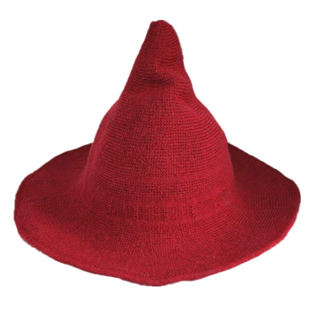 2019 Women Witch Hat Foldable Costume Sharp Pointed Wool Felt Warm Winter  Cap Dec3 From Sensational 6e8c6297efb