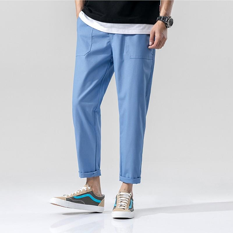 5a67d1ee632 2019 Summer Casual Pants Men Cotton Line Solid Drawstring Travel Pants 2019  New Mens Clothing Plus Size M 5XL Pockets Trousers Male From Clothfirst