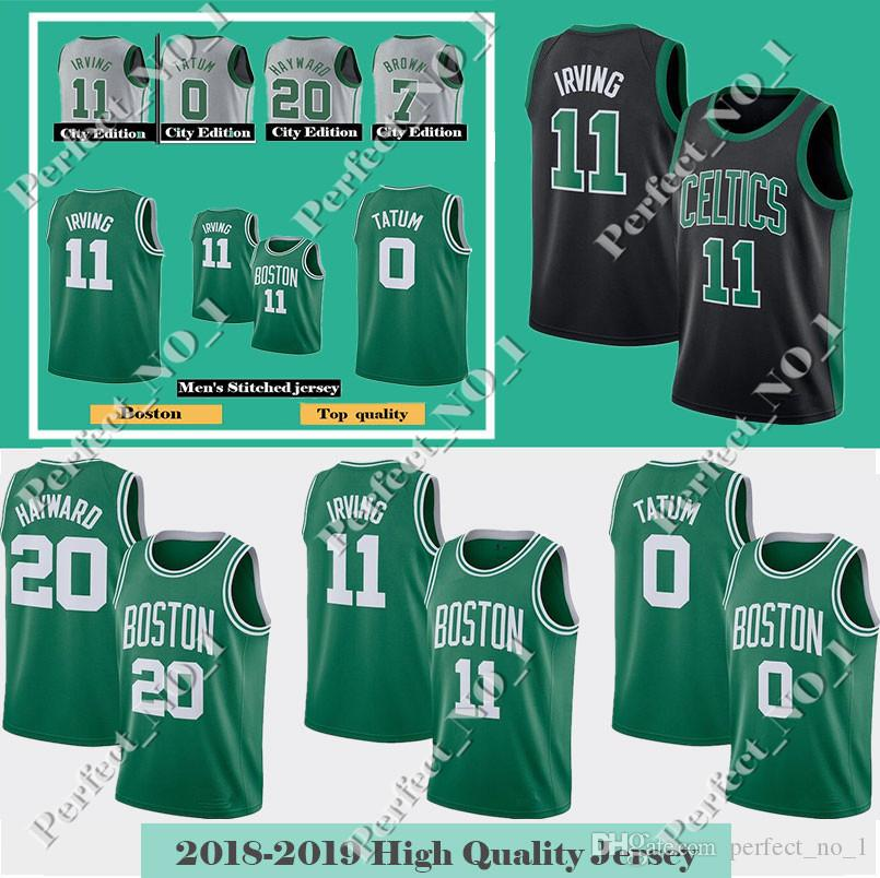 buy online 8860f 36bf1 Men's Boston Kyrie 11 Irving Celtics Jersey Jayson 0 Tatum Gordon 20  Hayward Larry 33 Bird Terry 12 Rozier Jaylen 7 Brown jerseys