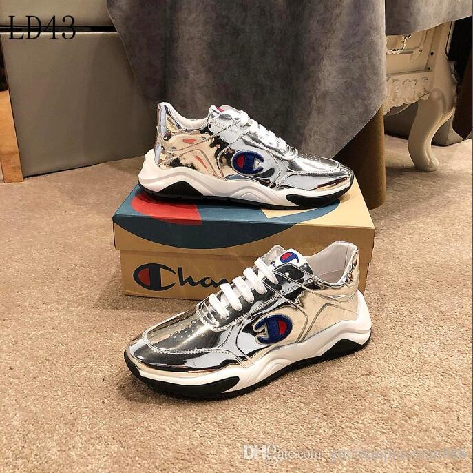 0aaa4e0f343a5 2019 G24 New Mens Champion casual shoes Luxury Brand men s Gucci shoes  Designer Louis Vuitton sport Shoes size 38-45