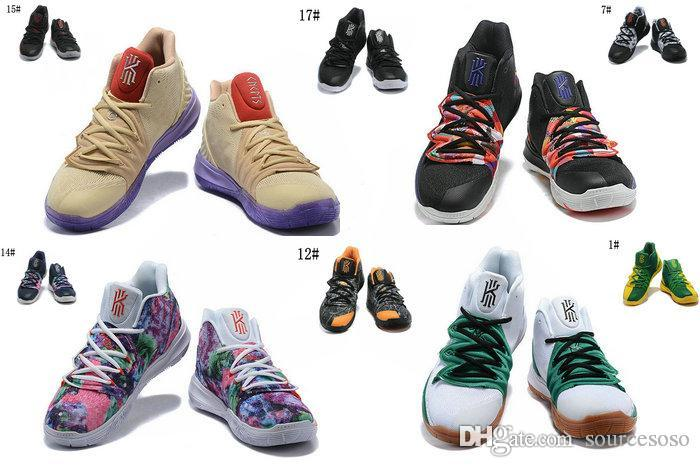 05d8f266ef3b 2019 KYRIE V 5 CONCEPTS TV PE 3 IKHET Beige Purple Multi Color Men  Basketball Shoes 5s EP CNY CHINESE NEW YEAR UNCLE DREW BLACK Sports  Sneakers From ...