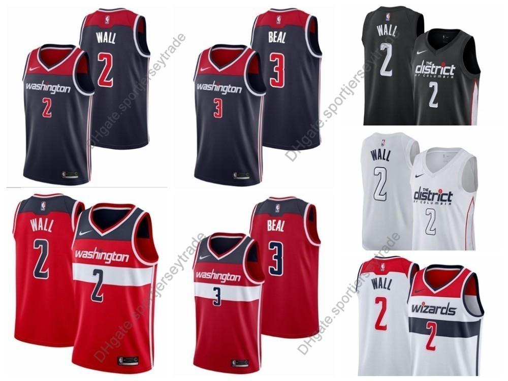 abc1b7a8c 2019 2019 Earned Mens Washington John Wall Bradley Beal Wizards Edition  Cheap Basketball Jerseys City John Wall Top Quality Stitched S XXXL From ...