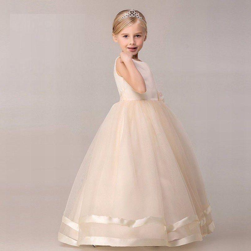 edce6ab1cb996 Charming Princess Flower girl dress Party Beautiful Prom Dress Ball Gown  Lovely Girl children dress