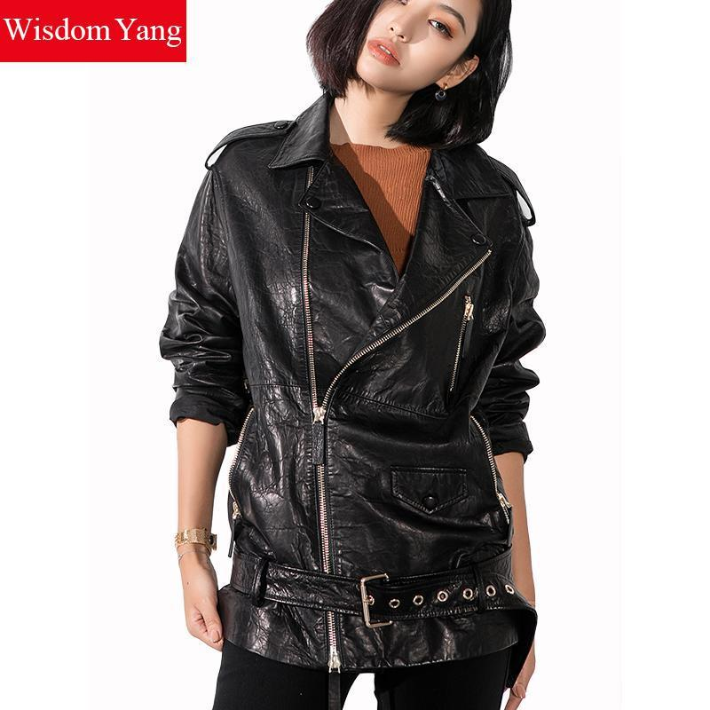 Manteau mouton femme noir