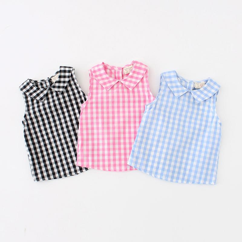 edaf1ebdb Compre Camisa De Verano Para Niñas Bebés Blusa A Cuadros Blusas De Algodón Para  Bebés Camisas Para Niños Camisas Para Bebés Blusas Blusas 2019 Nueva  Llegada ...