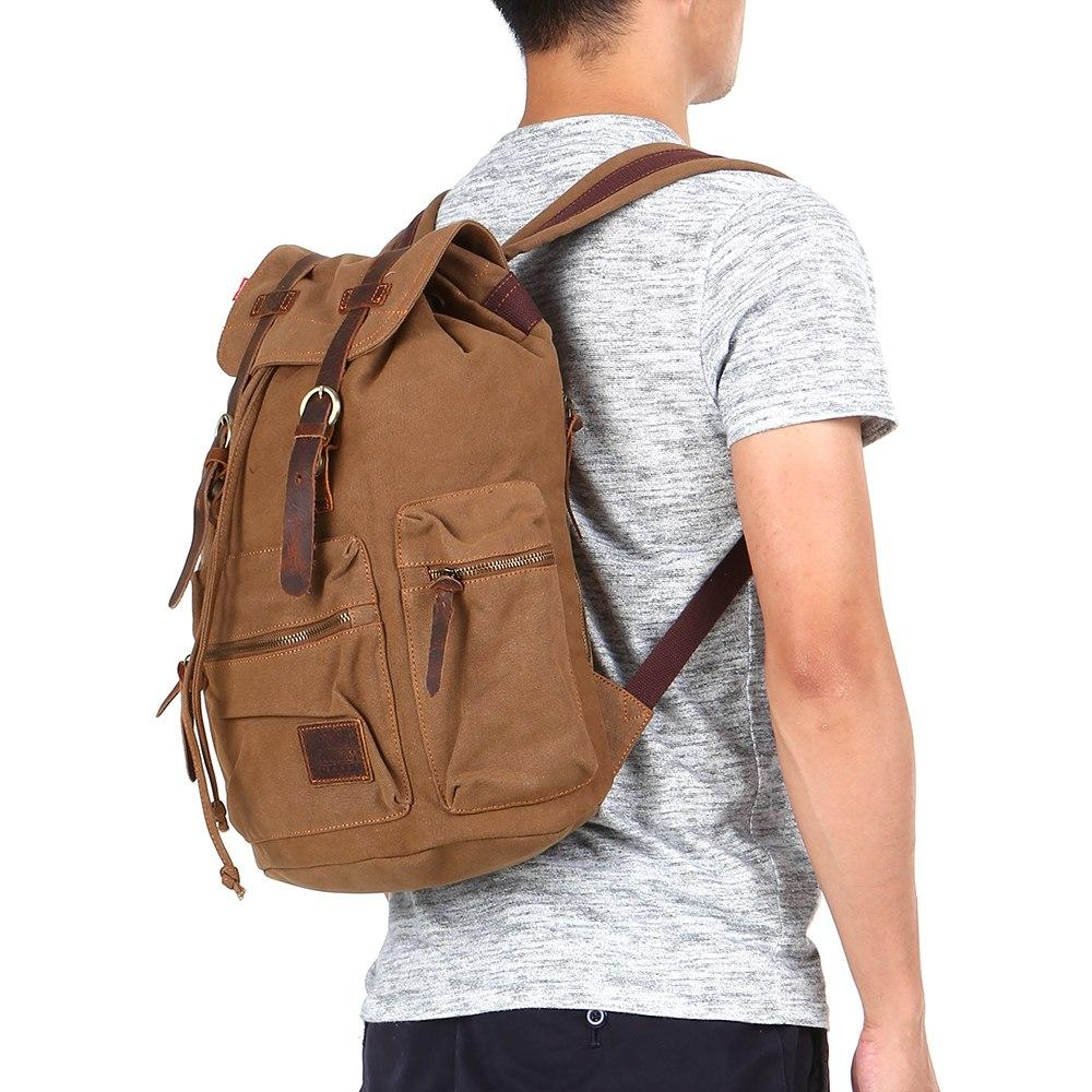 41d34f41369 NEW Vintage Laptop Backpack Women Men Large Capacity Laptop Backpack Travel  Daypack College School Bag Student For Teenagers Backpacks For School Laptop  ...