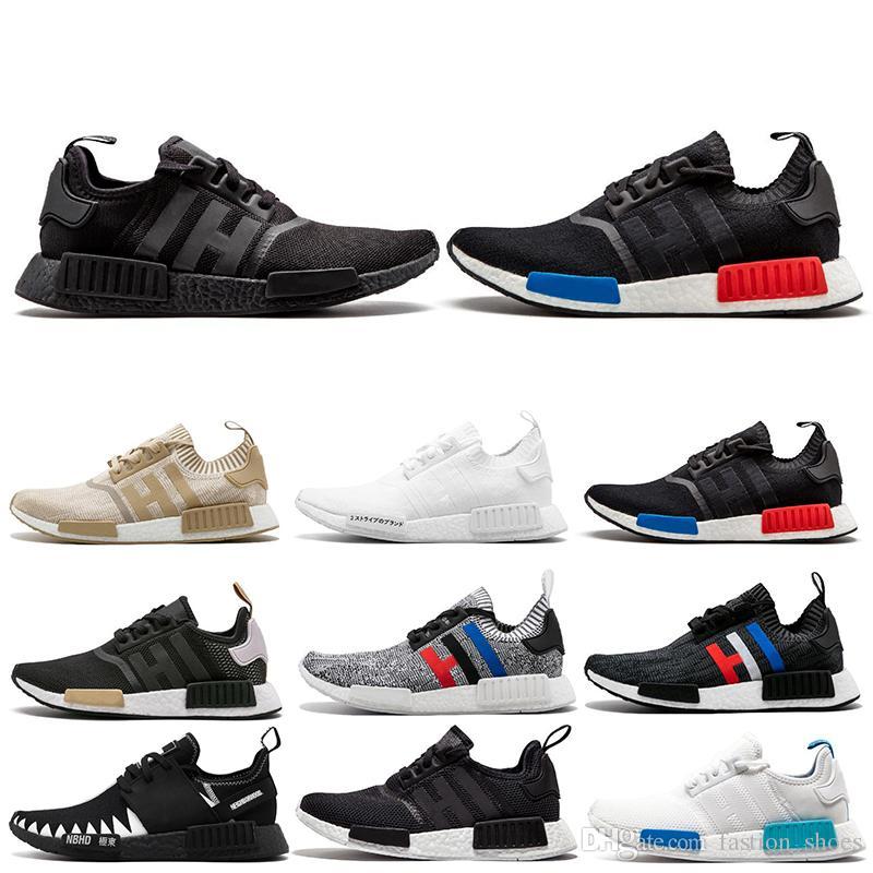 3538f853e8c99 Cheap 2019 NMD R1 OREO Runner NBHD Primeknit OG Triple Black White Camo  Running Shoes For Men Women Beige Runner Sports Shoe EUR 36-45