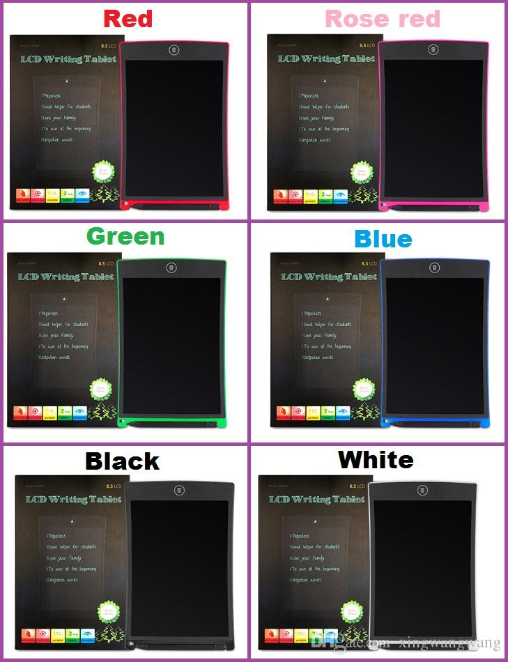 LCD الكتابة اللوحي الرقمية المحمولة 8.5 بوصة رسم وحي الكتابة اليدوية وسادات مجلس اللوحي الإلكترونية للبالغين أطفال الأطفال