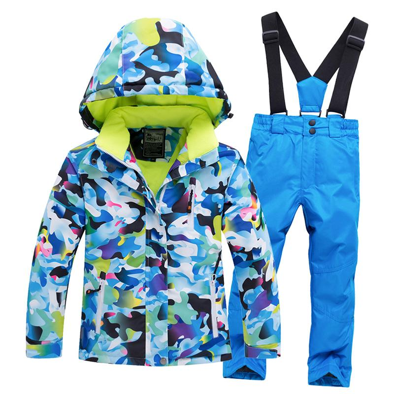 3d234bcbb 2019 Snow Suit Coats Snowboarding Clothing Outdoor Children Ski Suit Sets  Girl Boy Skiing Waterproof Thermal Winter Jacket + Pant From Longanguo, ...